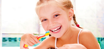 Children teeth cleaning, Costa del Sol, Spain